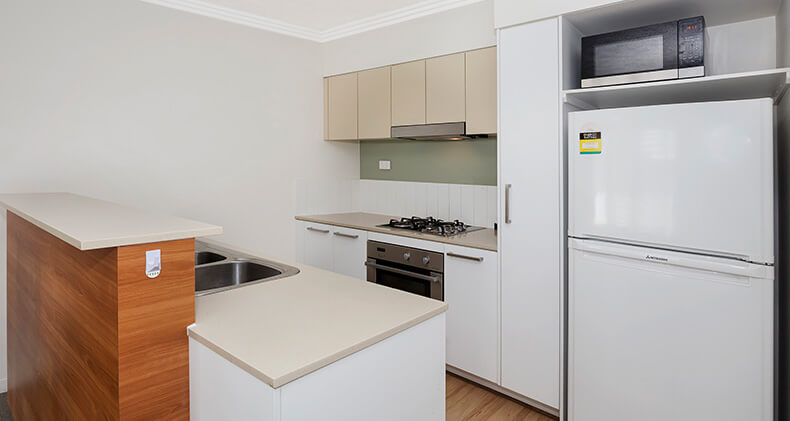 gabba-central-apartments-one-bedroom-kitchen | Gabba Central Apartments - Brisbane