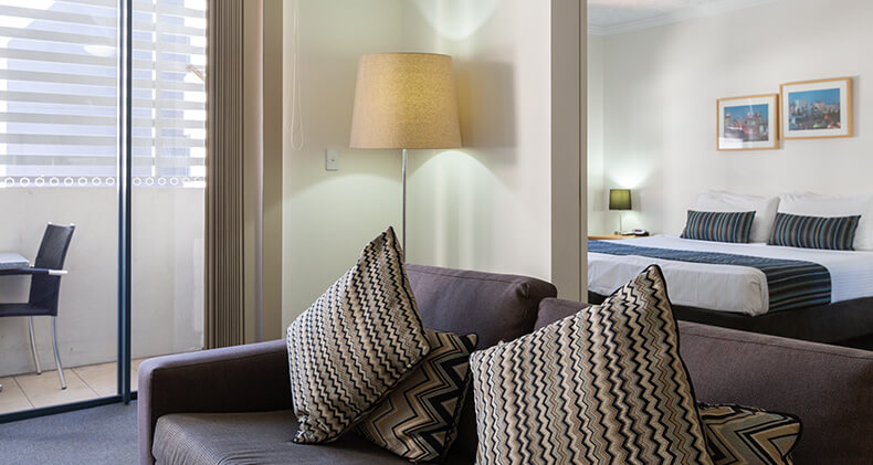 gabba-central-apartments-one-bedroom-lounge-room | Gabba Central Apartments - Brisbane