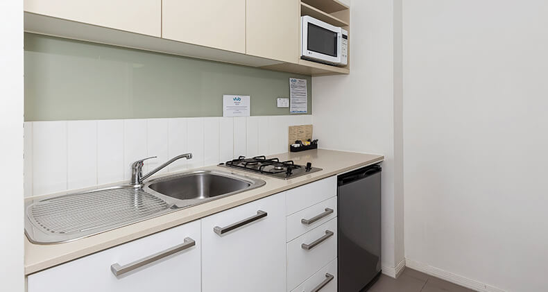 gabba-central-apartments-studio-kitchen | Gabba Central Apartments - Brisbane