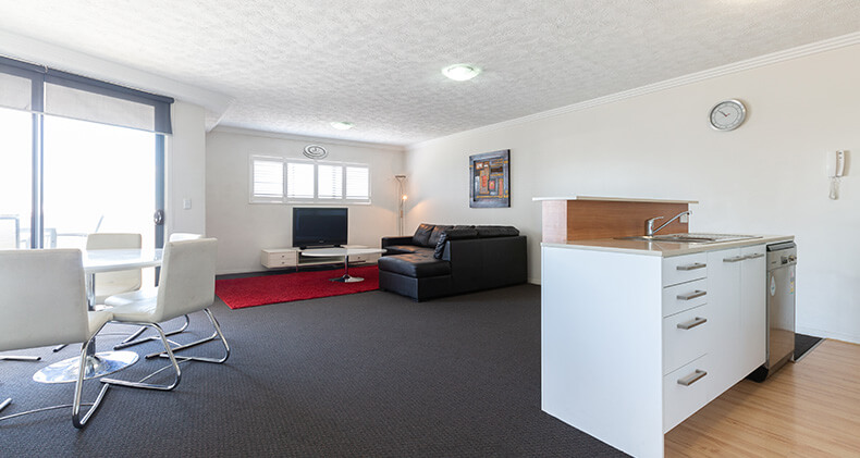 gabba-central-apartments-two-bedroom-living-kitchen | Gabba Central Apartments - Brisbane