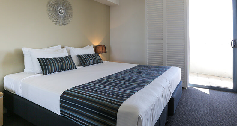 gabba-central-apartments-two-bedroom-main-bed | Gabba Central Apartments - Brisbane